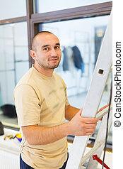 Smiling Electrician Man