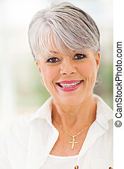 elegant mature caucasian woman - smiling elegant mature ...