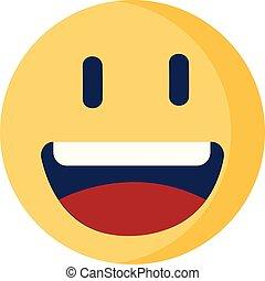 Smiling emoji vector or color illustration