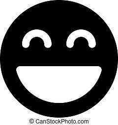 Happy smiling sun emoticon with open mouth  excited sun