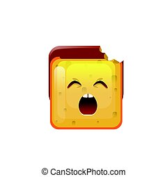 Smiling Emoticon Face Yawn Icon  Illustration