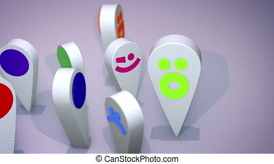"""""""Smiling Emoticon Figures Revolve Cheery"""" - """"An amusing 3d..."""