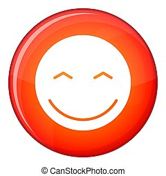 Smiling emoticon, flat style