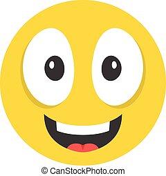 Smiling emoticon. Happy emoticon