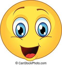 smiling emoticon vector