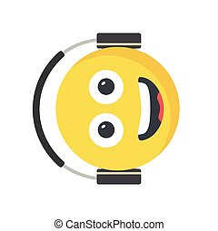 Smiling face emoji with large Ear Headphones,
