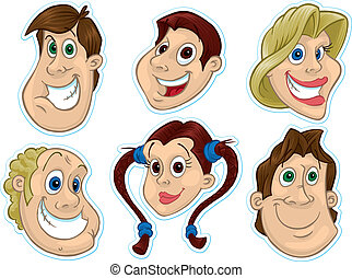 Smiling Face Fridge Magnet/Stickers #2