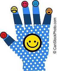 Smiling Face Hand