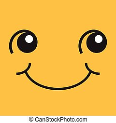 Smiling face with eyes and mouth