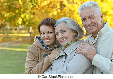 smiling family in park