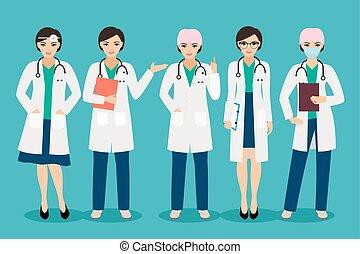Smiling female doctor - Vector female doctor or smiling ...