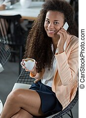 Smiling female office worker