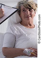 Smiling female patient