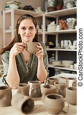 Smiling Female Potter