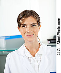 Smiling Female Researcher