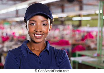 female textile industrial worker