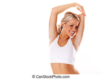 Smiling fitness beauty