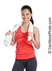 smiling fitness girl