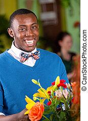 Smiling Flower Shop Customer