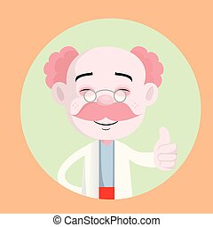 Smiling Forensic Pathologist Showing Thumbs Up Vector