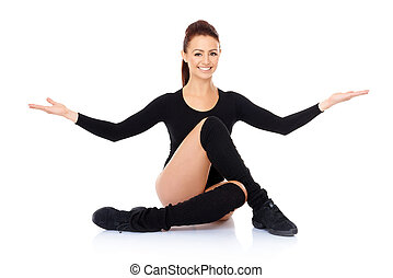 Smiling friendly supple woman