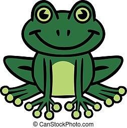 Smiling frog cartoon