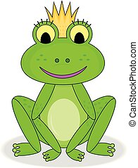 Smiling frog princess