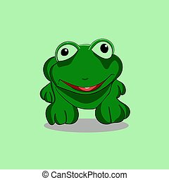 smiling frog vector illustration