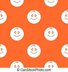 Smiling fruit pattern seamless