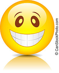 Smiling funny face