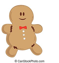 Smiling Gingerbread man.