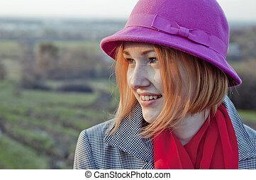 smiling girl.