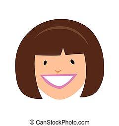 Smiling girl face