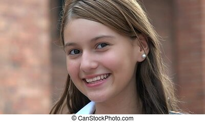 Smiling Girl Happy Teen