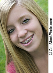 Smiling Girl - Smiling Braces Girl