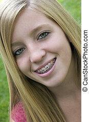 Smiling Girl - Smiling Braces Girl
