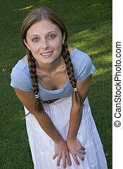 Smiling Girl - Smiling girl