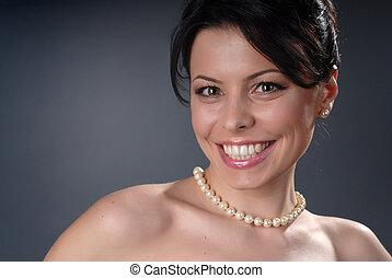 smiling glamour girl