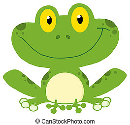 Smiling Green Frog