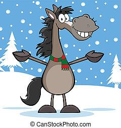 Grey Horse Cartoon