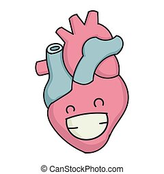 Smiling Grin Cartoon Human Heart - Smiling grin cartoon ...