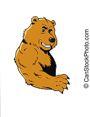 Bear  - Smiling, Growling Bear with Claws