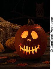 Smiling Halloween Jack-O-Lantern
