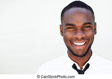 Smiling handsome young african man
