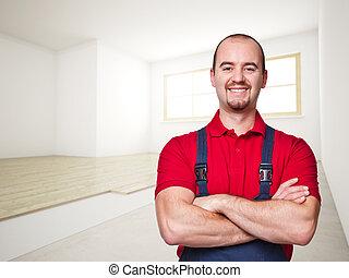 smiling handyman