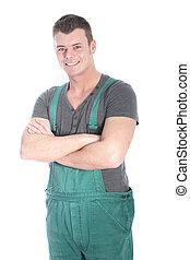 Smiling handyman or labourer