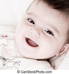 Smiling happy baby