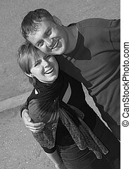 smiling happy couple