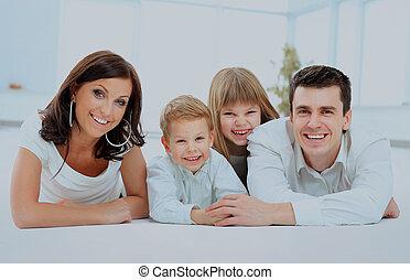 smiling happy family.