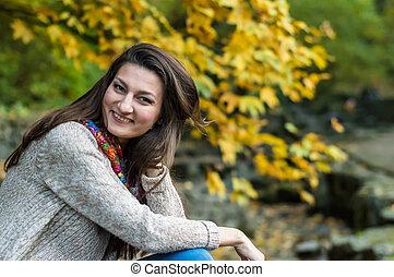 smiling, happy girl portrait